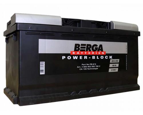 Аккумулятор Berga 100 апмер , Обратная (- +) полярность (Pb-No5)