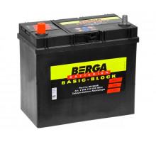 Аккумулятор Berga 45 апмер толстая клемма, Обратная (- +) полярность (BB-B24LS)