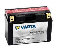 Аккумулятор Varta 8 апмер + электролит, Прямая (+ -) полярность (509902008)