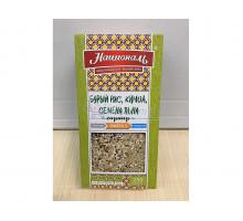 Гарнир Националь бурый рис / киноа / семена льна, в упаковке 250 грамм