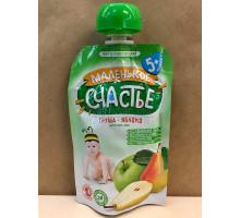 Детское пюре Маленькое счастье Груша-яблоко, С 5 месяцев, 90 грамм