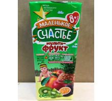 Сок Маленькое счастье Мульти-фрукт, С 8 месяцев, 200 грамм