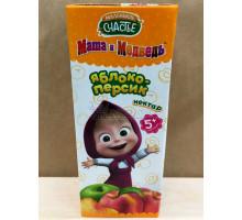 Нектар Маленькое счастье Яблоко/персик, С 5 месяцев, 200 грамм