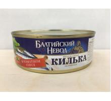 Килька Балтийский невод балтийская неразделанная в томатном соусе, 230 грамм