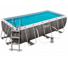 Каркасный бассейн Bestway Power Steel Прямоугольный 412x201x122 мм (56722)